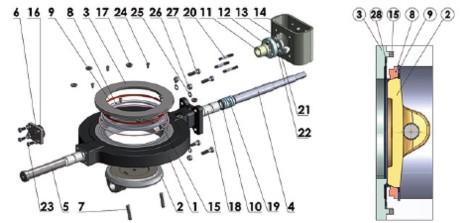 устройство двухэксцентрикового дискового затвора