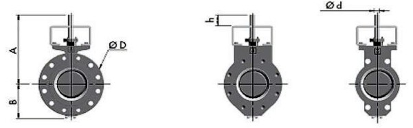 чертеж трехэксцентриковых дисковых затворов